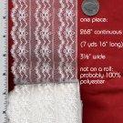 "New Wyla White Lace 3½"" x 7¼ yards Flat Sewing Trim"