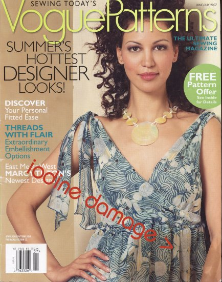 2007 Vogue Patterns Magazine Sewing Today CUTTER