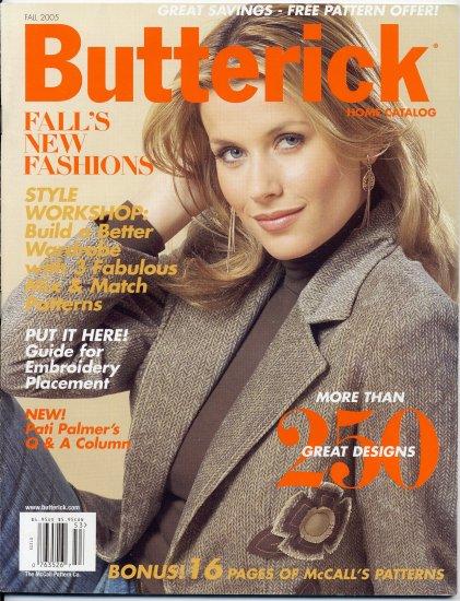 Fall 2005 Butterick Home Catalog Sewing Fashion Patterns Magazine