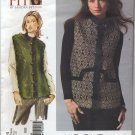"Vogue 2914 Vest Sandra Betzina Sewing Pattern Misses' OSZ: A-J Bust 32""-55"" Faux Fur Quilted"