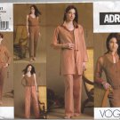 Vogue 2851 Shirt Jacket Top Pants ADRI Sewing Pattern Misses' 20 22 24 Office Weekend Wardrobe