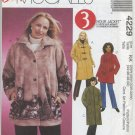 McCall's 4229 Unlined Jacket & Scarf Sewing Pattern Women's 26W 28W 30W 32W Raglan Sleeves Hood