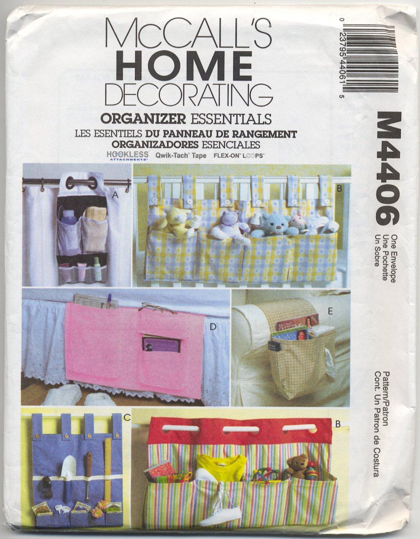 McCall's 4406 Caddies & Organizers Home Decorating Essentials Sewing Pattern Garden Bed Chair Crib