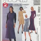 McCall's 2356 Dress or Jumper Sewing Pattern Misses' 20 22 24 Easy Office Basics