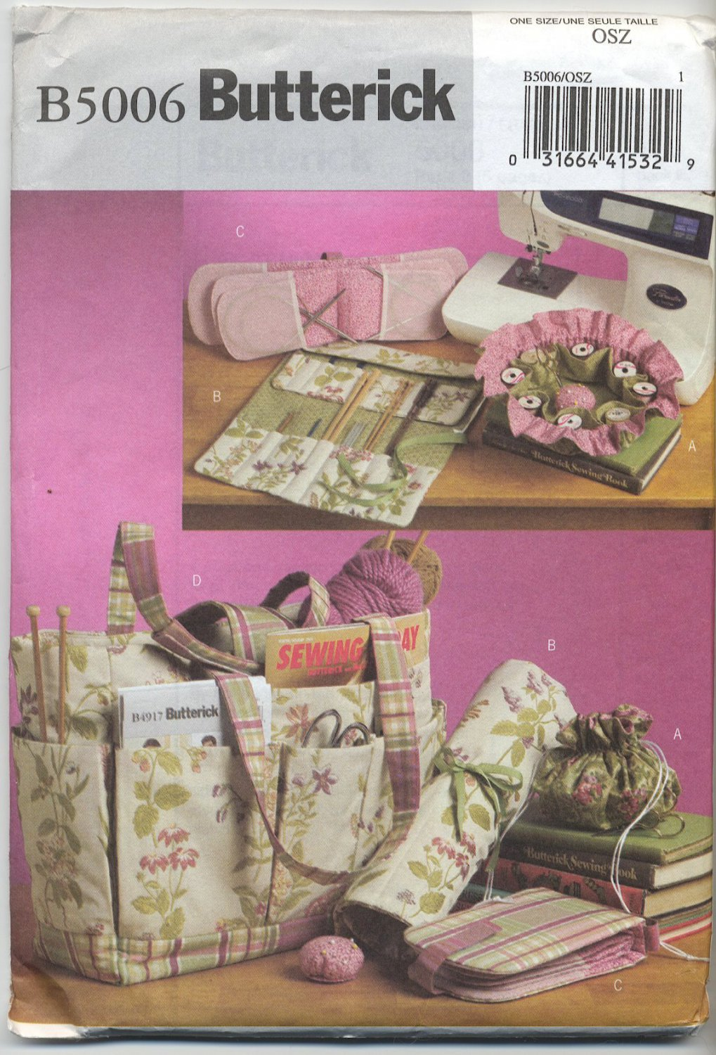 Butterick 5006 Sewing & Knitting Tote & Accessories Sewing Pattern ...