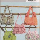 Butterick 4822 Lined Handbags - Inside Pockets Sewing Pattern Ruffles Fabric Roses Trim & Beads