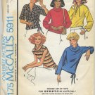 "McCall's 5911 Tops For Stretch Knits Sewing Pattern Misses' Small (10-12) Bust 32½""-34"" Vintage 70s"