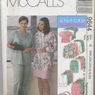 McCall's 9644 Cardigan Vest Top Pants Skirt Hat Sewing Pattern Women's 28W 30W 32W Scrubs Uniform