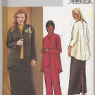 Butterick 3979 Jacket Top Skirt & Pants Sewing Pattern Women's 28W 30W 32W Back-Slit Skirt