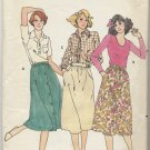 "Butterick 5993 Dirndl Skirt Sewing Pattern Misses' 10 Waist 25"" Sweet Versatile Wardrobe Builder"