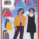 Butterick 5170 Unlined Jacket Jumper Skirt Pants & Hat Very Easy Sewing Pattern - Girls' 7 - 8 - 10