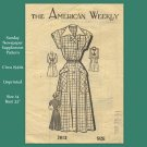 The American Weekly 1940s Dress - Unprinted Sewing Pattern - Size 14 Bust 32""