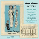 "Anne Adams 4876 1950s Wiggle Dress Sewing Pattern - Size 14 Bust 34"" Vintage Mail Order Cut Complete"