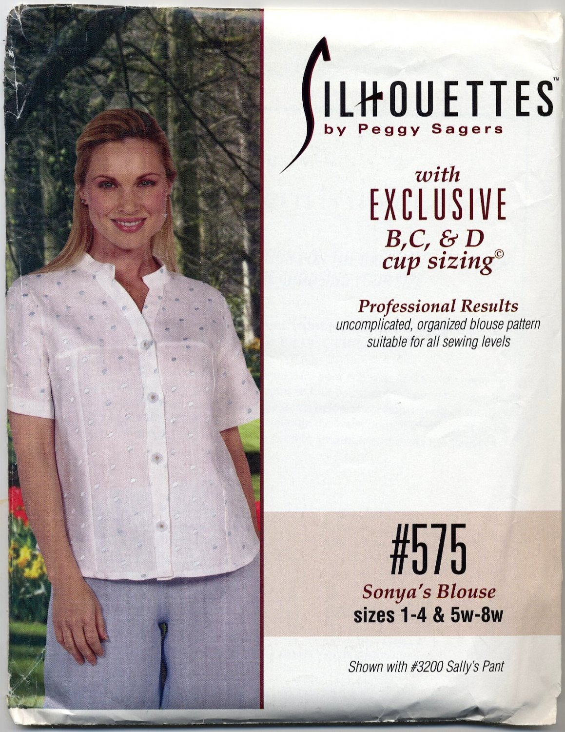 Silhouettes 575 - Sonya's Blouse / B C D-Cup Sizing - Sewing Pattern - Misses' 1-4 & Women's 5w-8w