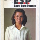 "Simplicity 8186 Tucked Shirt / Blouse Sewing Pattern Misses' 8 10 12 Bust 31½""-34"" Vintage 70s"