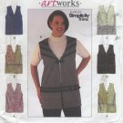 Simplicity 8631 Artworks Vests Sewing Pattern Women's 18W 20W 22W 24W