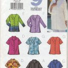 Butterick 3523 Very Easy Tops - - Sewing Pattern Misses' 20 22 24 Blouse Shirt Wardrobe Staple