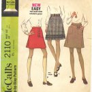 "McCall's 2110 Skirt Set ""New Sizing"" Sewing Pattern - Waist Size 24"" Vintage 1969 60s"