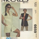 McCall's 6659 Wrap Cover-Up - - (Cut) Sewing Pattern - - Miss 10-12 1970s Summer Essential