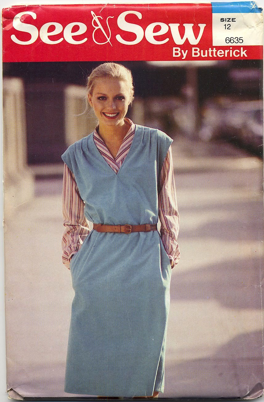 """See & Sew 6635 - - Loose-fitting Jumper - - Easy Sewing Pattern - - Misses' 12 Bust 34"""""""