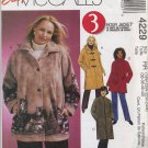 McCall's 4229 Unlined Jacket & Scarf Sewing Pattern Women's 18W 20W 22W 24W Raglan Sleeves Hood