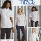 Simplicity 3684 Shirts B C D-Cup - Threads Collection Sewing Pattern Misses' 16 18 20 22 24