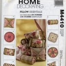 McCall's 4410 Home Decorating Sewing Pattern Trimmed & Pieced Pillows Bolsters