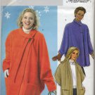 Butterick 4363 Fleece Wraps - Sewing Pattern - Women's 26W 28W 30W 32W Cozy Capes with Sleeves