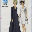 Vogue 7499 One-Piece Maternity Dress - (Cut) Sewing Pattern - Misses' 8 Bust 31-1/2 Vintage 1960s