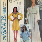 McCall's 4887 Dress or Top / Embroidery - Marlo's Corner 1970s Sewing Pattern - Miss 12 Bust 34""