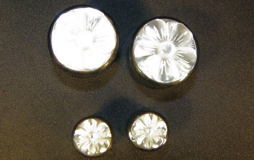 "Horn ear gauge plugs mother of pearl flower 2g 0g 00g 7/16"" 1/2"" 5/8"" 3/4"""