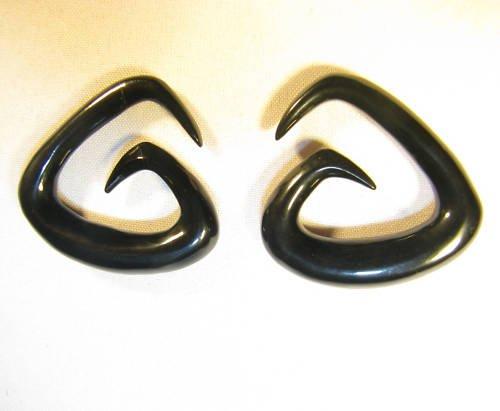 horn gauge ear tri-spiral taper earrings plugs 12g 0g +