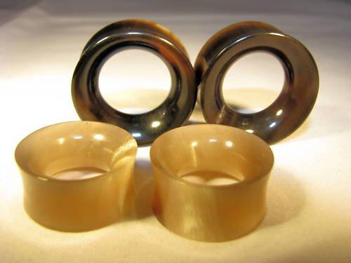 "Horn ear gauges, spacers, flesh tunnels, earlets, plugs 2g 0g 00g 1/2""  3/4"" 1"""