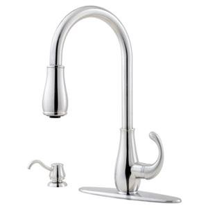 New Price Pfister T529-DSS Treviso Pull-Out Spray Kitchen Faucet Stainless Steel