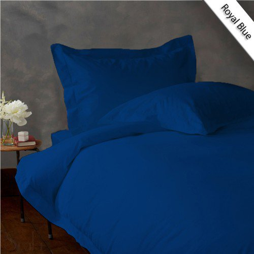 600TC SOLID FULL/QUEEN 3PC EGYPTIAN BLUE DUVET/DOONA/QUILT COVER SET 100% EGYPTIAN COTTON