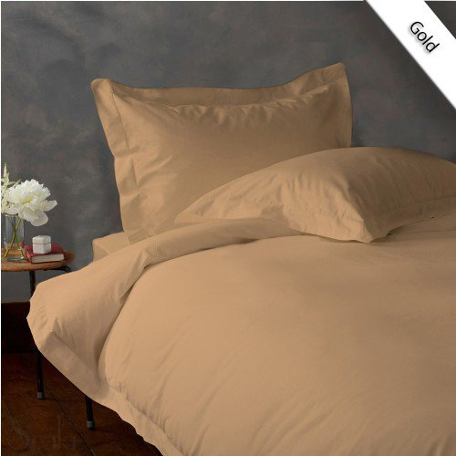 800TC SOLID FULL/QUEEN 3PC GOLD DUVET/DOONA/QUILT COVER SET 100% EGYPTIAN COTTON