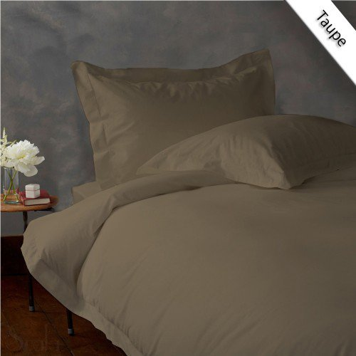 800TC SOLID FULL/QUEEN 3PC TAUPE DUVET/DOONA/QUILT COVER SET 100% EGYPTIAN COTTON