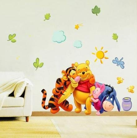 winnie the pooh wall stickers ds58371. Black Bedroom Furniture Sets. Home Design Ideas