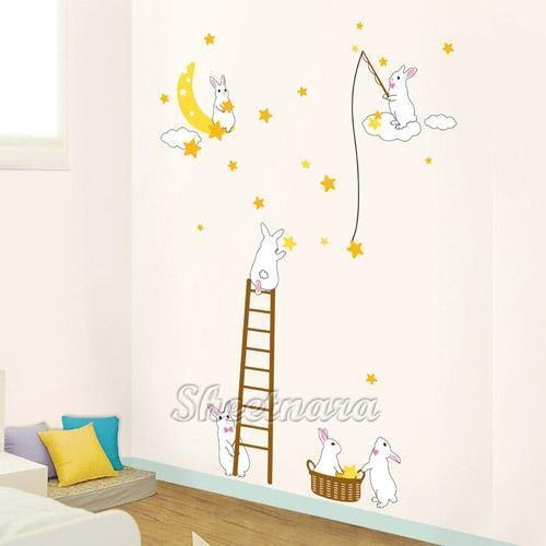 Rabbit Wall Stickers PS-58165