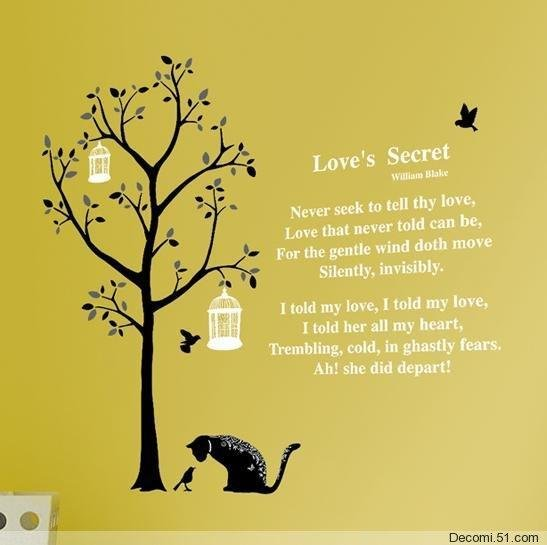 Love's Secret Wall Stickers SS-58220