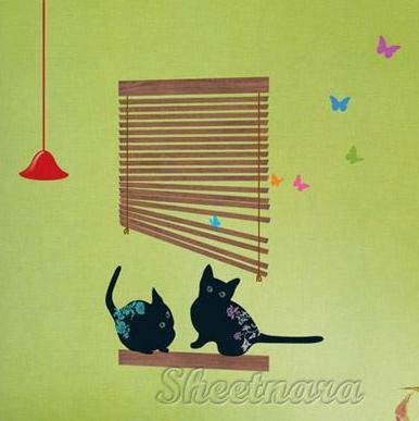 Black Cat Wall Stickers SS-58233