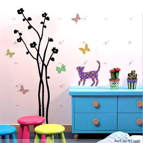 Color Cat Wall Stickers EC-004