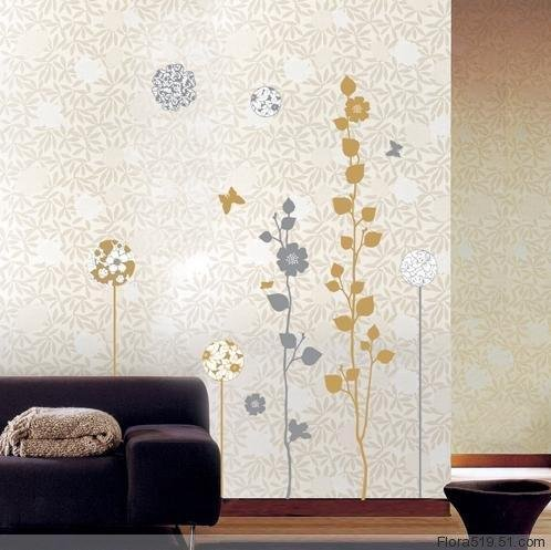 Silver Tree Wall Stickers PS-58067