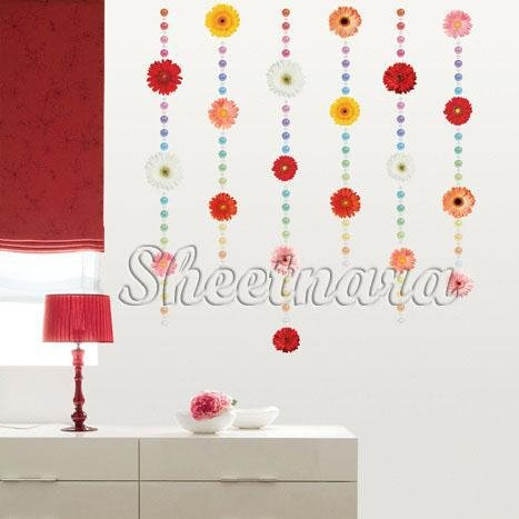 Strings of flowers Wall Stickers PS-58048