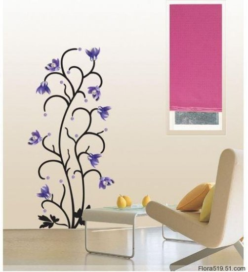 Purple Neriifolia Wall Stickers PS-58047