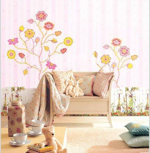 Flowers Tree Wall Stickers PS58012
