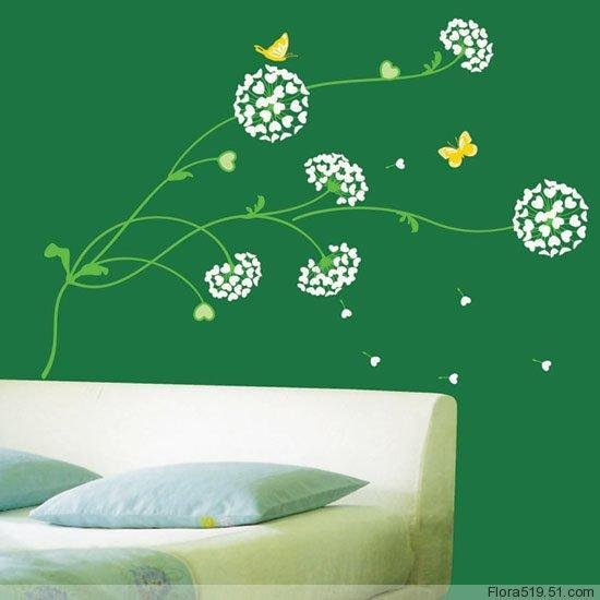 Ball Flower Wall Stickers KR-0026