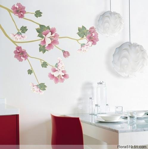 Hibiscus flower Wall Stickers PS-58071