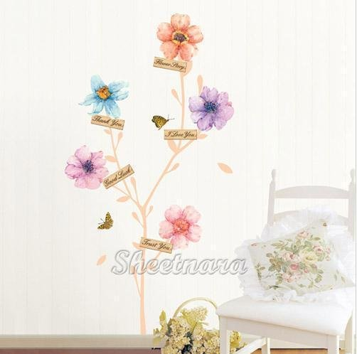 Color Flower Wall Stickers PS-58163