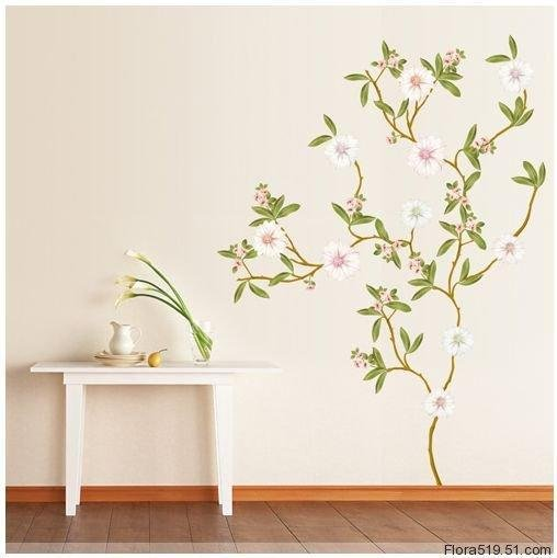 White Neriifolia Wall Stickers KR-0019